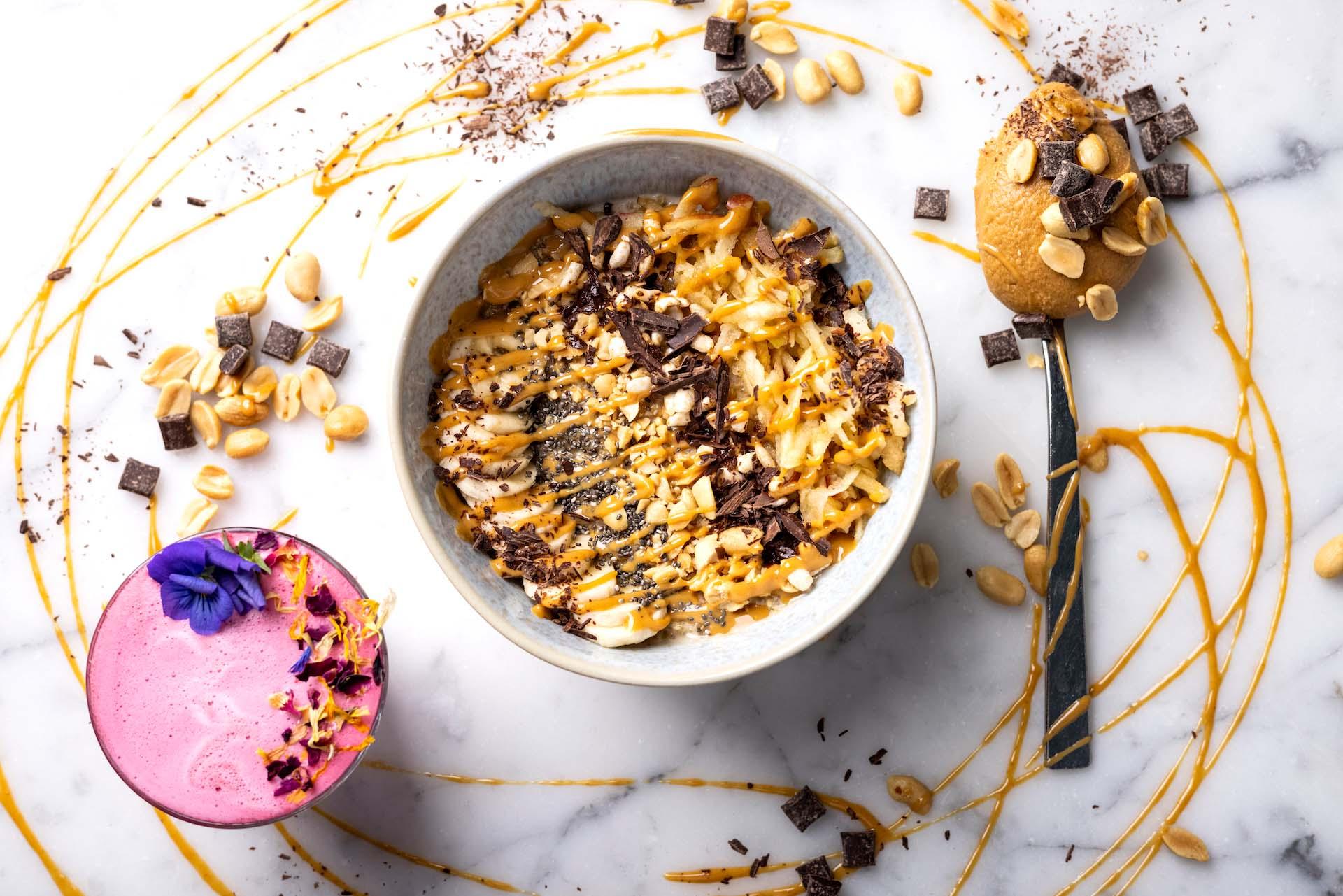 Crunchy Snickers Porridge